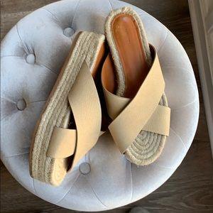 All saints crossover espadrille sandals